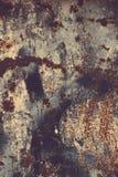 textur för rost för rest för djupare fokus för stång vänster Färgrik rostig gammal skrapad metall texturerad backgr royaltyfria foton