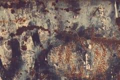 textur för rost för rest för djupare fokus för stång vänster Färgrik rostig gammal skrapad metall texturerad backgr fotografering för bildbyråer