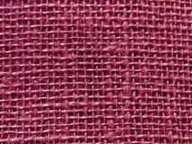 Textur för säck för rosa färgfärghessians Arkivbilder