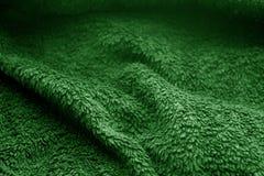 Textur för säcktorkduk med suddighetseffekt i grön färg royaltyfri foto