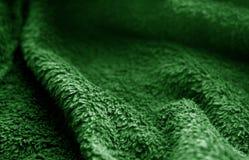 Textur för säcktorkduk med suddighetseffekt i grön färg arkivbild