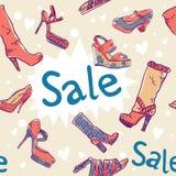 textur för skor för rabattförsäljning seamless Arkivbild