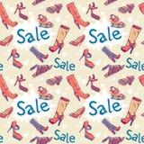textur för skor för rabattförsäljning seamless Royaltyfria Foton
