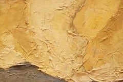 Textur för slut för olje- målning övre med borsteslaglängder Royaltyfri Bild