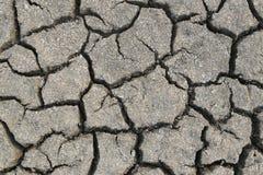 Textur för sprucken jord och för torr jord Royaltyfria Foton