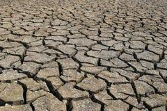 Textur för sprucken jord och för torr jord Arkivbilder