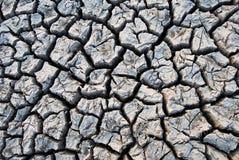 Textur för sprucken jord och för torr jord arkivfoto