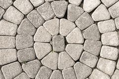 Textur för stenstenläggningcirkel royaltyfria bilder