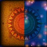 textur för stjärna för översikt för abstraktionbakgrundskompass Royaltyfri Bild