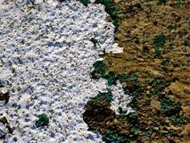 Textur för stor vägg i brunt och turkos Grunge modell royaltyfri fotografi