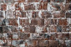 Textur för tegelstenvägg - bakgrund med gammal tegelsten royaltyfri fotografi