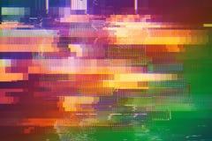 Textur för tekniskt fel för provskärmabstrakt begrepp arkivbilder