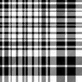Textur för tyg för modell för celtic fc för tartan svartvit sömlös Royaltyfri Foto
