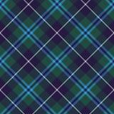Textur för tyg för modell för Douglas tartan sömlös diagonal Royaltyfri Fotografi