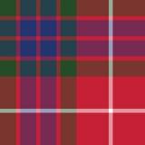 Textur för tyg för modell för Fraser tartan sömlös Royaltyfria Bilder