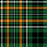 Textur för tyg för modell för grön fc för tartan celtic sömlös Royaltyfria Bilder