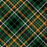 Textur för tyg för modell för keltisk tartan för fcdiagonalgräsplan sömlös Royaltyfri Fotografi