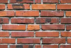Textur för vägg för röd tegelsten, sömlöst tileable bakgrund Arkivfoto
