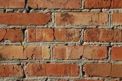 Textur för vägg för röd tegelsten, bakgrund royaltyfri fotografi