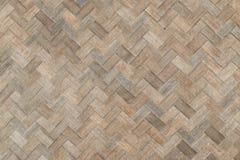 Textur för vävbambuvägg Royaltyfria Foton