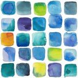 Textur för vattenfärg för iskuber vektor illustrationer