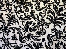 Textur för vit- och svartfärgtyg Arkivfoto