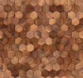 Textur för wood vägg för sexhörningar sömlös Arkivfoto