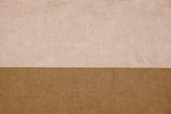 Textur gjorde randig murbruk av två bruna signaler Arkivfoto