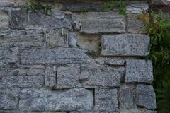 textur masonry Fragment av den forntida väggen arkivfoto