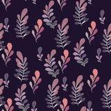 Textur med blommor och växter blom- prydnad royaltyfri illustrationer