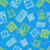 Textur med datorsymboler för design Arkivbild