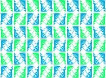 Textur med den färgrika stiliserade nyckelpigan Arkivbild