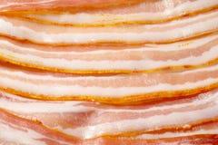 Textur med massor av bacon Arkivfoton