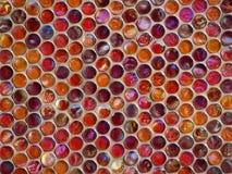 Textur med olika färgexponeringsglascirklar Arkivbilder