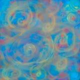 Textur med suddiga cirklar tänder abstraktionen för en bakgrund, illusion av ljus, spiralen, lutning royaltyfri illustrationer