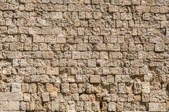 Textur modell, bakgrund av den medeltida stenväggen Royaltyfri Bild