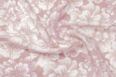 Textur modell Torkduk - siden- chic blom- bakgrund Blom- w Royaltyfri Bild