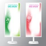 Textur mou rose vert réglé de gradation de secteur de vecteur abstrait de fond Photographie stock libre de droits
