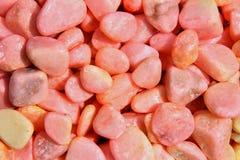 Textur och bakgrund av rosa gravels royaltyfri foto