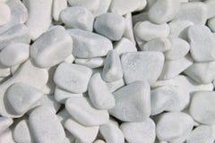 Textur och bakgrund av vita gravels arkivfoto