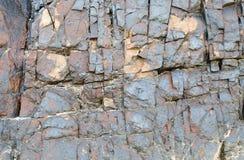 Textur och bakgrund för vägg för blå sten Arkivfoton