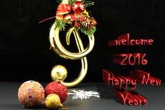 Textur och bakgrund för välkomnande 2016 lyckliga nya år Royaltyfri Fotografi