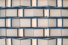 Textur och bakgrundsmetall och betongvägg Royaltyfria Bilder
