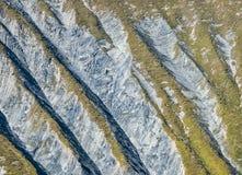 Textur på bergsidan, Ecrins, Delfinato, Frankrike Royaltyfri Bild