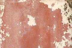 Textur på den röda väggen Arkivbilder