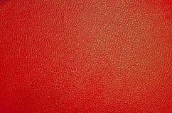 Textur röd hud på en stol royaltyfri bild