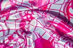 Textur tyg, bakgrund Textur av en kvinnlig klänning med ett a Royaltyfri Foto