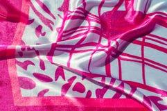 Textur tyg, bakgrund Textur av en kvinnlig klänning med ett a Royaltyfria Foton