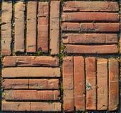 Textura à terra da telha do tijolo Fotografia de Stock Royalty Free