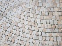 Textura à terra do tijolo do pavimento Imagens de Stock Royalty Free
